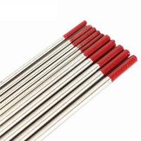 5pcs 1 6mmx150mm 5pcs 2 4mm X 150mm Red Tip Tungsten Electrodes TIG Welding Rods WT20