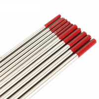 5pcs 1 6mmx150mm 5pcs 2 4mm X 150mm Red Tip Tungsten Electrodes TIG Welding Rods WT20