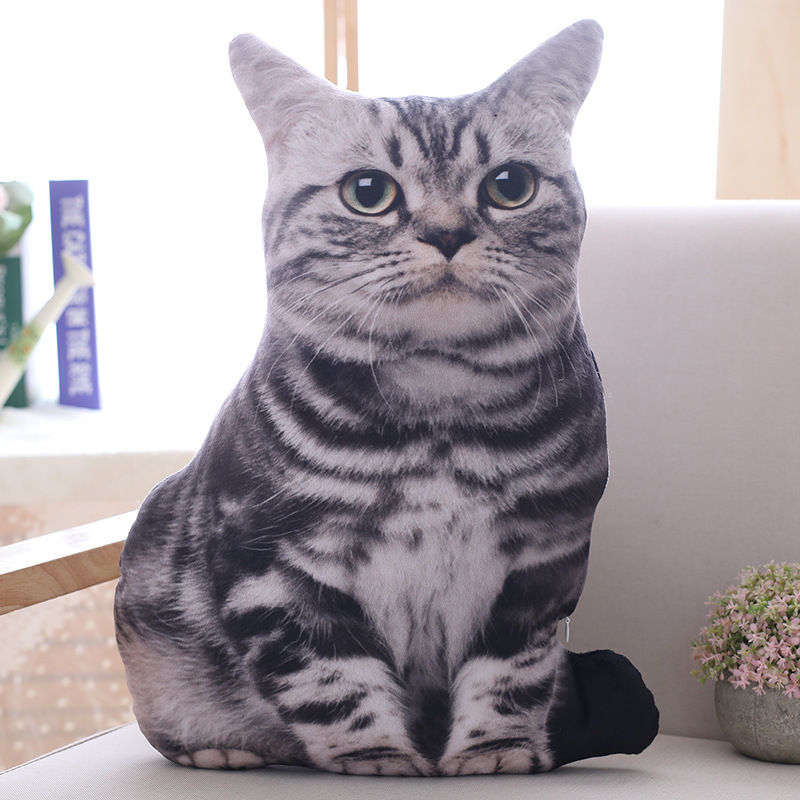 LREA New 50CM cojines Plush Toy Cute Expression Simulation Cat Pillow Bedroom Sofa Decorations Cushion