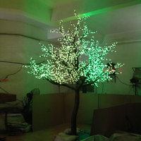 3Meter 2688leds Red Blue Purple 3Color changing cherry blossom artificial tree with led for outdoor lights