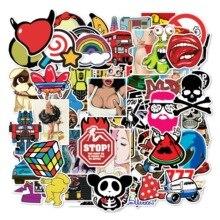 100 Mixed Series Graffiti Stickers Sexy beauty Interesting Skateboards, Refrigerators, Car Stickers DIY Personality Creativity