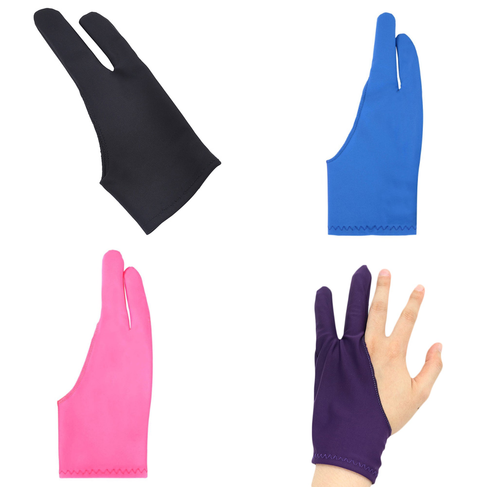 Anti-fouling Artist Glove For Drawing,black 2 Finger Painting Digital Tablet Writing Glove For Art Students / Arts Lovers