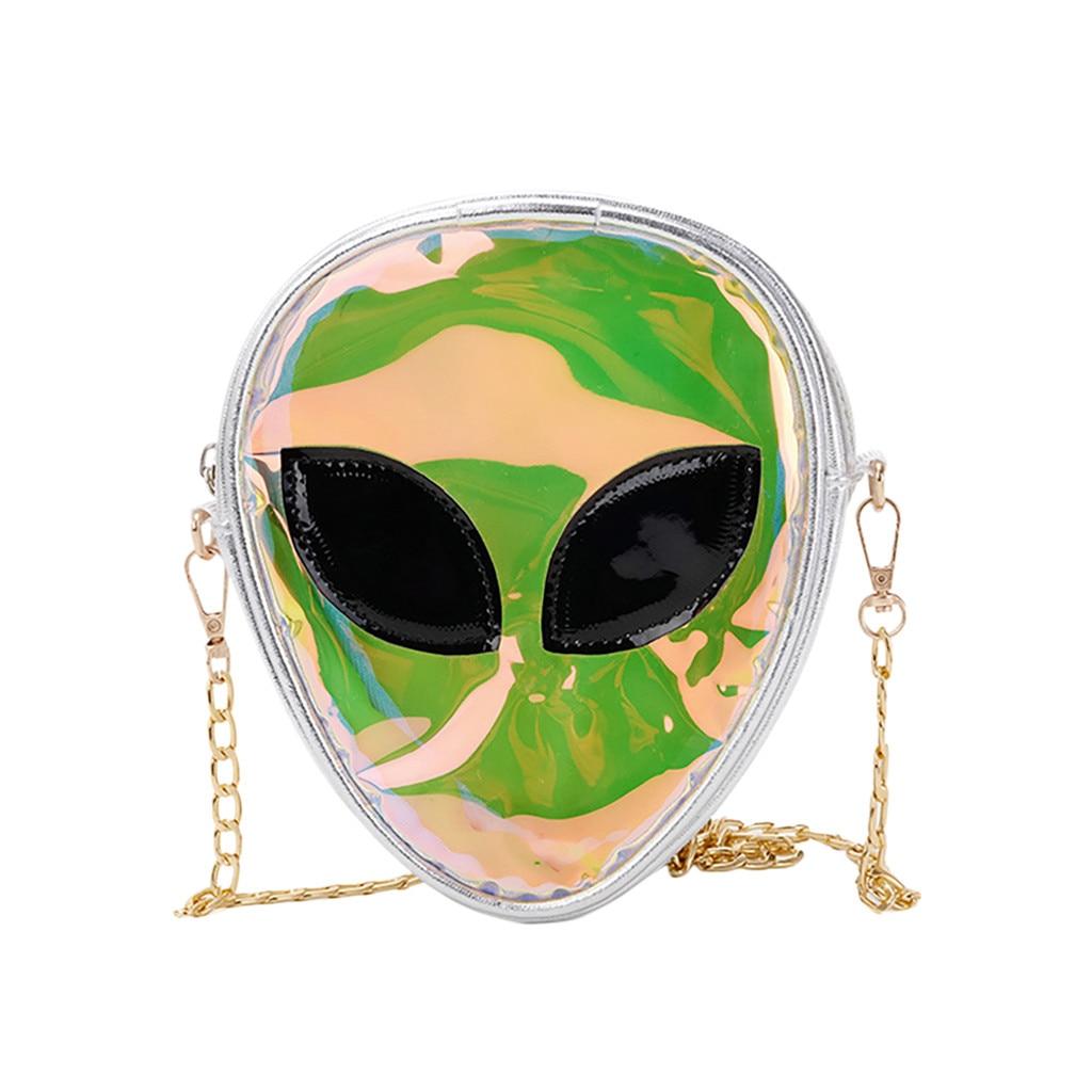 Version Fashion  Women Children Alien Transparent Jelly Bag Shoulder Bag ET Backpack Coin Bag School Shoulder Bookbags For Teen