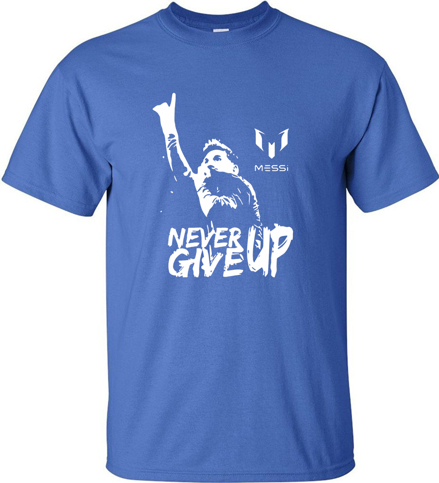 38ced94afe9 Leo Messi NEVER GIVE UP Tshirt FC BARCELONA T shirt MESSI Cotton Jersey  Fans for Shirt-in T-Shirts from Men s Clothing on Aliexpress.com