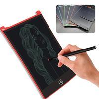 AMZDEAL 12 Inch LCD Children Writing Board Eco Friendly ABS Painting Kids Graffiti Handwriting Notepad Board