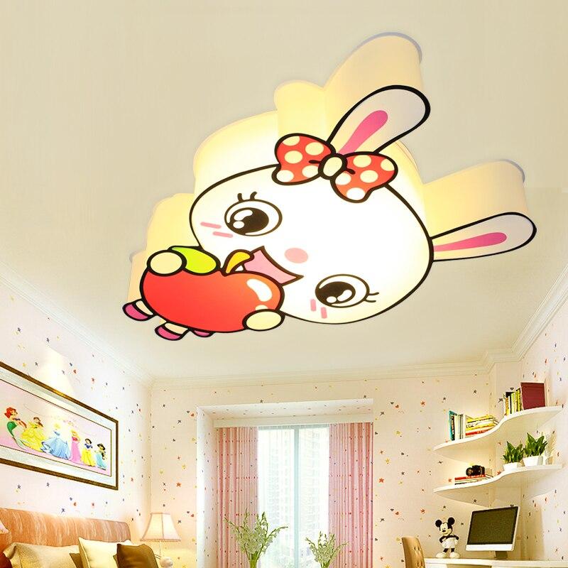 New Cute Little Rabbit Childrens Ceiling Lights Creative Modeling Lamp Energy Saving Karaoke Kinder Garten Lighting Lu810232 Ceiling Lights
