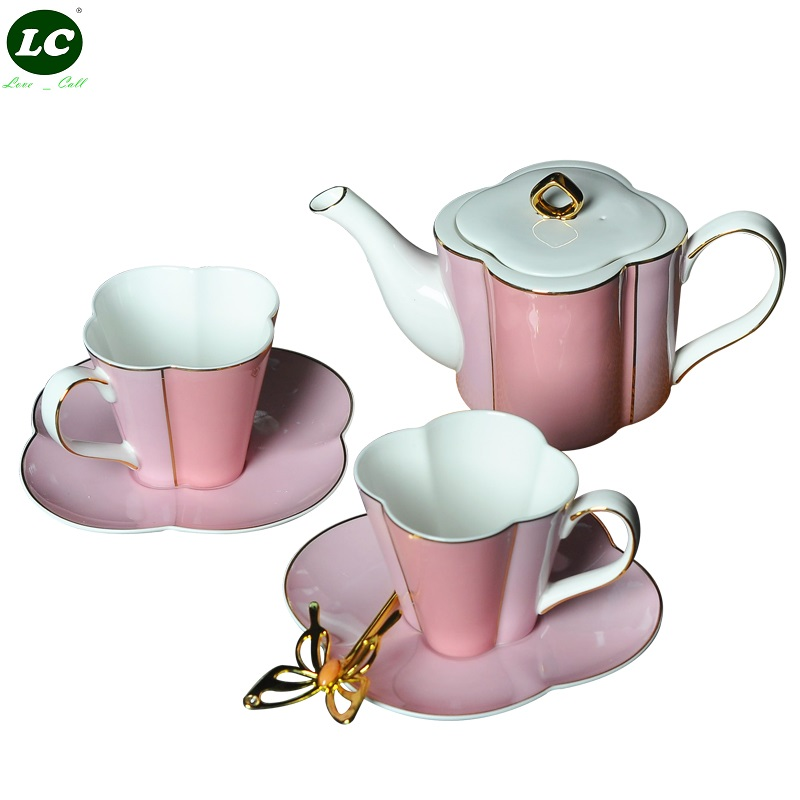 Набор кофейных чашек костяного фарфора английский послеобеденный чай набор керамический торт Свадебная коробка Европейский кофейный набо... - 2
