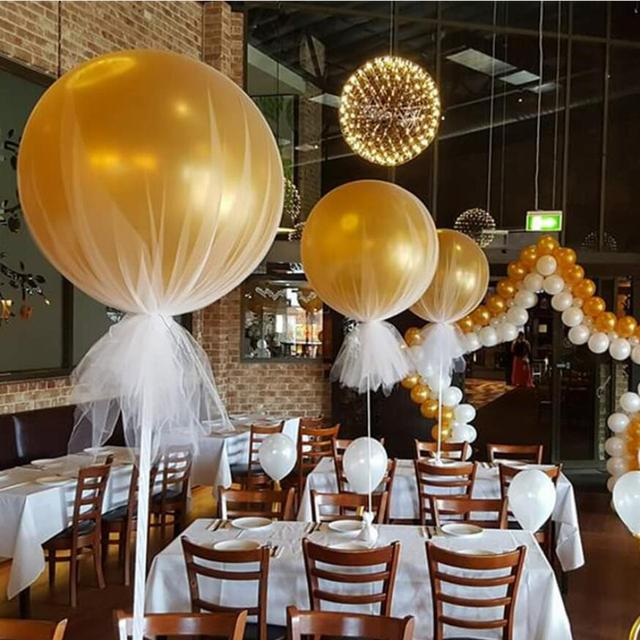 14pcs 36 inch 25g jumbo large round latex balloons transparent clear giant wedding ballons table centerpiece