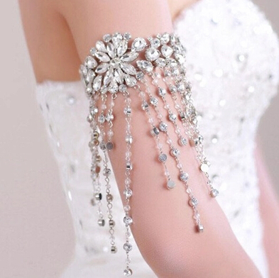 Neue Braut Armband Wassertropfen Stil Ketten Kristall Armband Schmuck - Modeschmuck - Foto 3