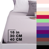 Custom Fitted Sheet Pure Cotton Luxury Solid Bedsheet 600TC Mattress Cover Bed Sheet With Elastic Band Linens 1PCS Bedding Sheet