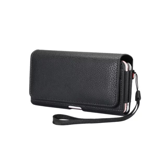 Universal Double layer Black Holster Leather Case Cover For <font><b>Alcatel</b></font> OneTouch Pop 2 5.0 inch 7044 OT 7043A <font><b>7043Y</b></font> 7043K Phone bag image