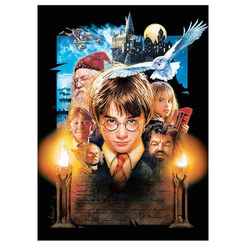 5D Harry Potter Bordado Praça Cheia de Diamantes Pintura Diamante DIY Ponto Cruz Strass Mosaic Needlework Arte