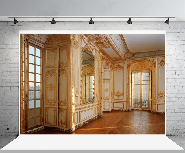 interior view photography.  Interior Laeacco Luxury Royal Palace Hall Mirror Wall Interior View Photography  Backdrops Vinyl Custom Photo Backgrounds For Inside