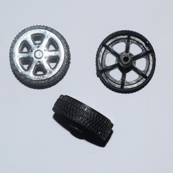 10/100pcs 2x22mm plastic Wheel tamiya/yuanmbm rc car robot wheel diy Toy part Technology Model Parts/rc/baby toys T222A image