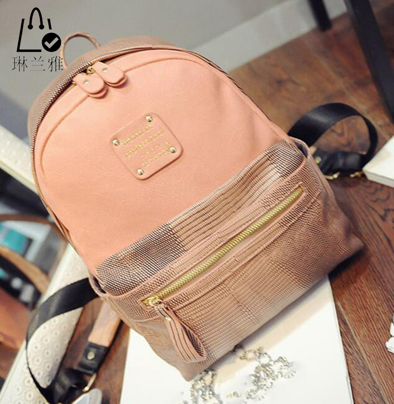 LINLANYA Hot sale fashion lady backpack small portable backpack women high quality PU leather package 4