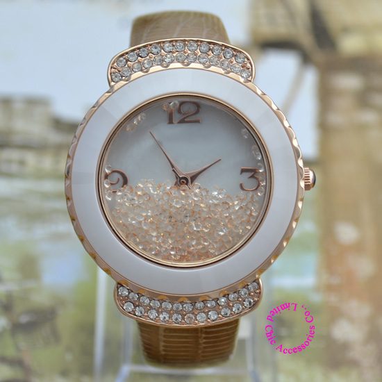 wholesale buyer price good quality luxury ceramic ring fashion Woman crystal bead japan Quartz Watch Wristwatch hour брюки rps rps mp002xm0w3nw