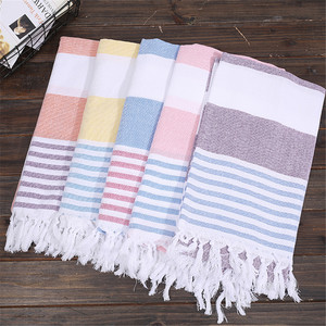 100% Cotton Towel Turkish Cotton Bath Beach Spa Sauna Yoga Fringed Jacquard Towel Magic Mat Blanket Portable Sand Towel Travel(China)