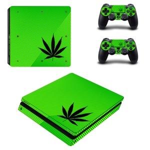 Image 3 - Adesivo de decalque para playstation 4 slim, adesivo branco puro e verde para controles de playstation 4 slim adesivo da pele