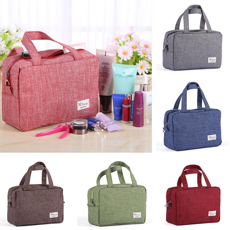 2017 Novo 600 DMatte Pano Zipper Novas Mulheres sacos de Maquiagem Cosméticos saco Caso Make Up Organizador de Armazenamento De Higiene Pessoal saco de Lavagem de Viagem bolsa