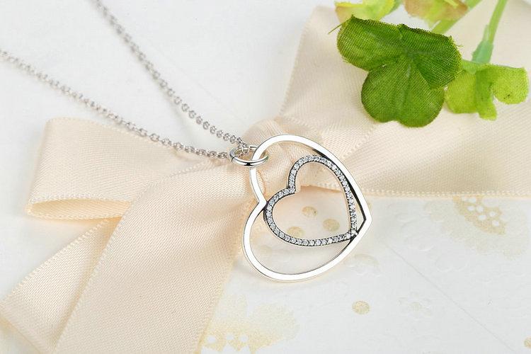 HTB1ElczJVXXXXcsXFXXq6xXFXXXh - 100% Real 925 Sterling Silver Heart To Heart Romantic Pendant