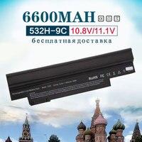 11.1v Black 6600mAh 11.1v for Acer Aspire One NAV50 532 532H AO532h 532G AO532G 533 UM09G31 UM09G41 UM09G51 UM09H31 UM09H36