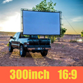 "Nierbo tela de projeção de 300 ""polegadas 16:9 hd projetor tela de projeção tela de cinema sem quadro branco mate"