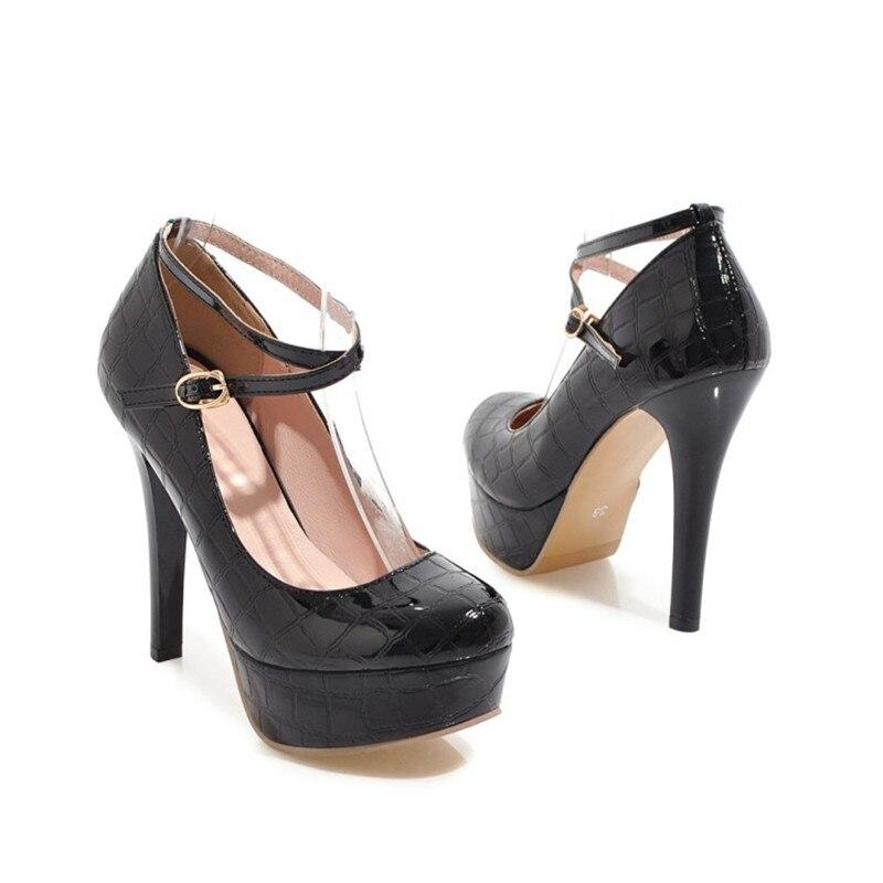 Ankle Für Frauen Stiletto Rot Sexy Apricot Strap Party red Heels Ferse Plattform High Neue Hochzeit Schuhe black Pumps xpXqwB1w0