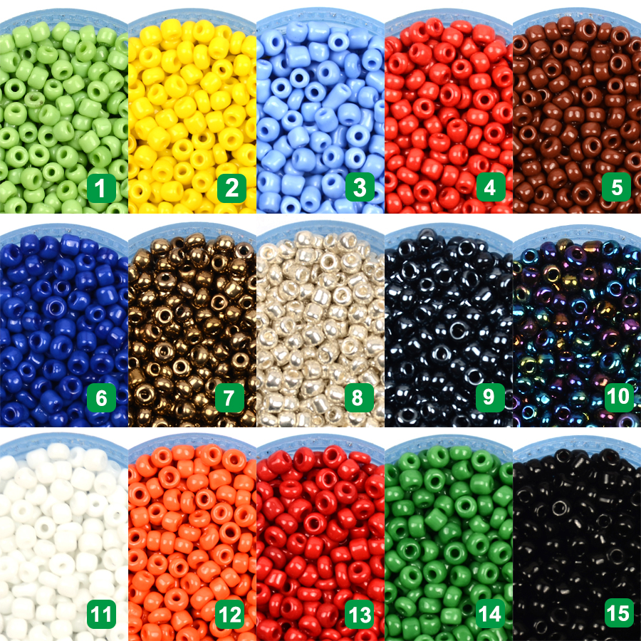 14.5glot 3mm 500pcs Candy Color Glass Beads For Jewelry Making Kralen Czech Seed Beads HandmadeDIY Accessories Bead (2)
