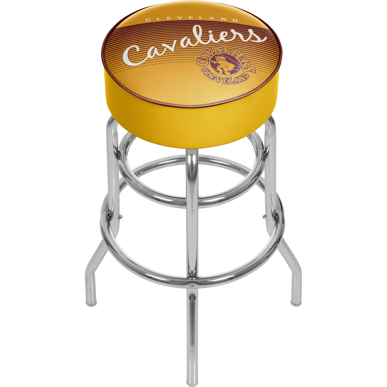 Cleveland Cavaliers NBA Hardwood Classics Padded Swivel Bar Stool 30 Inches High фанатская атрибутика nike curry nba