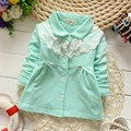 2015 Fashion Autumn Lace Baby Kids Girls Children Infant Long Sleeved Coat Jackets Outwear Trench Cardigan MT237
