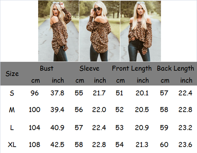 Sexy Style Women Leopard Shirts 6
