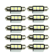 36mm CANBUS Error Free 3 LED 5050 SMD 6418 C5W License Plate Dome Bulb Light 2017 Hot