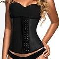 HEXIN 100% Latex Waist Trainer Corset 9 Steel Bones Sexy Women Body Shaper Plus Size Underbust Shapewear Slimming Belt