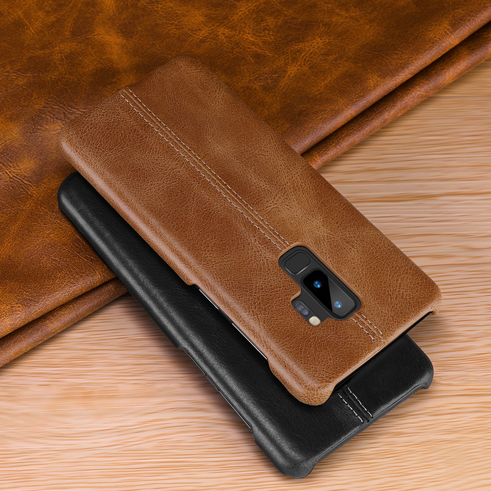 Image 4 - Genuine Leather Case For Samsung Galaxy S10 S9 S8 Plus S10e Slim Full Body Non Slip Resistant Cover Cases for Samsung Note 9 8-in Fitted Cases from Cellphones & Telecommunications