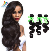 Sevengirls Body Wave Bundles Grade 10A Indian Natural Hair Extension 100% Virgin Human Hair No Tangle No Shedding Free Shipping