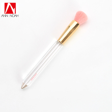Transparent Handle Unique Soft Hair Faced Dome Head Diamond Light Highlighting Makeup Brush