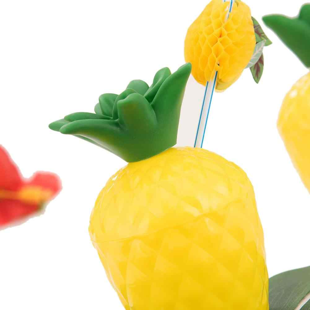 Гавайские вечерние кокосовые чашки ананасовая чашка реквизит для фотосъемки с соломинкой (стиль соломы случайный)
