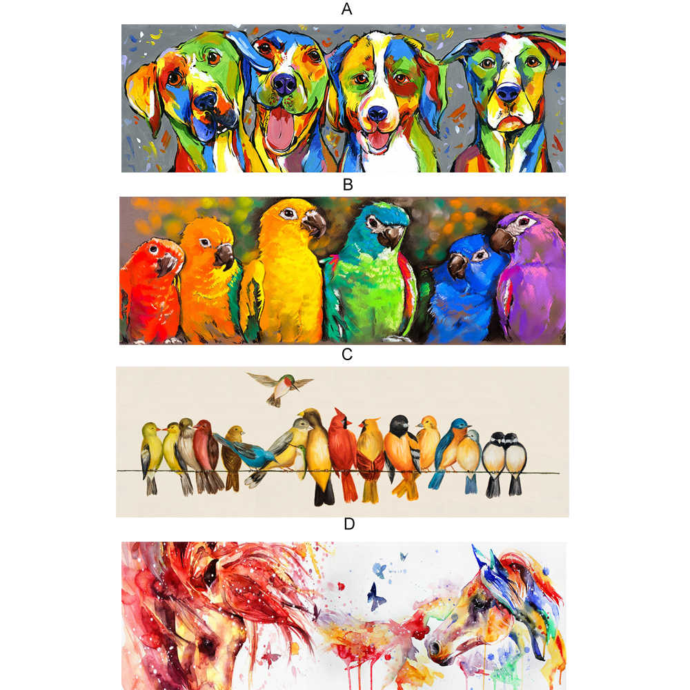 Abstract Wall Graffiti Art Canvas Prints Watercolor Animals Pop Art Canvas Paintings On The Wall Pictures For Kids Room Decor