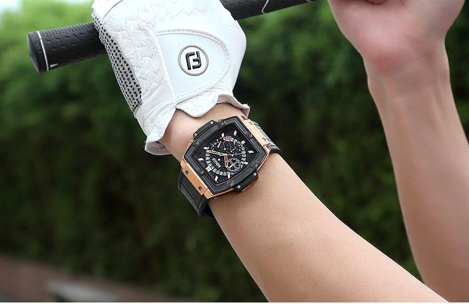 de Quartzo Man Top Marca Relógio de