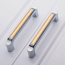 5 modern fashion kitchen cabinet handles shiny silver dresser pull128mm drawer cupbord wardrobe furniture handle pull