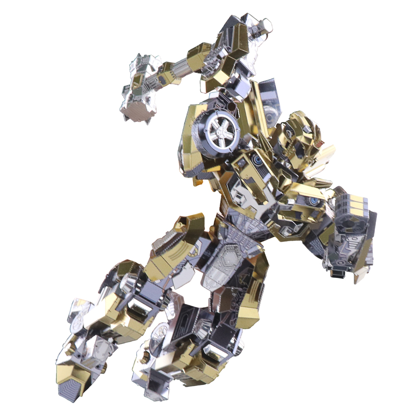 2018 MU 3D Metal Puzzle TF robot Joint Movable DIY Laser Cut Jigsaw Model For Adult kids Educational Toys Desktop decoration 2018 mu 3d metal puzzle tf robot joint movable model diy 3d laser cut assemble jigsaw toys desktop decoration gift for audit