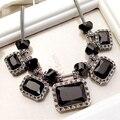 El envío Libre de Cristal de Joyería de Moda de La Vendimia Exageró partido corto Collar de la joyería para mujer collar de cristal cuadrada