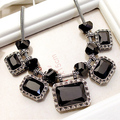 Free Shipping Crystal  Jewelry Fashion Vintage Exaggerated party short Necklace jewelry for woman square crystal necklace