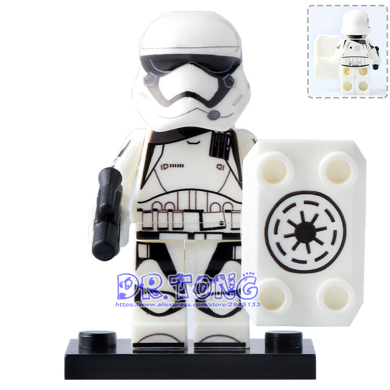 DR.TONG 20pcs/lot PG769 Clone Trooper Star Wars Imperial Army Military Stormtrooper Darth Vader Building Blocks Toys for Kids 1pc imperial death trooper rogue one 75156 diy figures star wars superheroes assemble building blocks kids diy toys xmas
