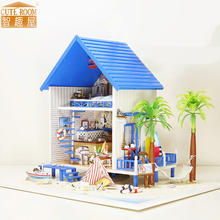 Furniture DIY Doll House Wodden Miniatura Doll Houses Furniture Kit DIY Puzzle Assemble Dollhouse Toys For Children gift A029