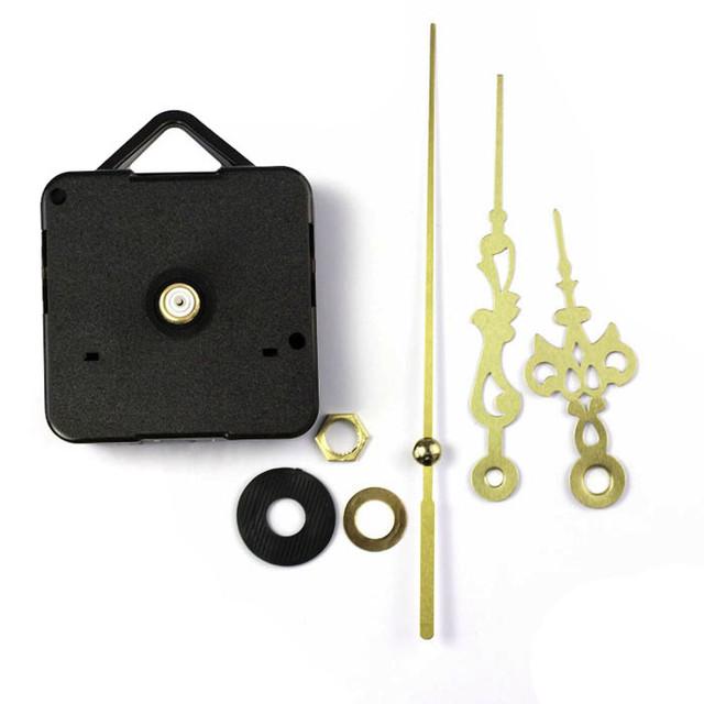 Quartz Clock Movement Mechanism DIY Repair Parts Gold + Hands New Repair Kit Tool Set With Hook Saat