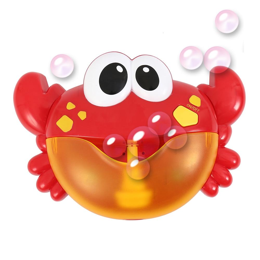 Kids Bubble Maker Toy Baby Children crab  Bubble Machine Pool Swimming Bathtub Soap Machine Automatic Music Bath Toy gift L395
