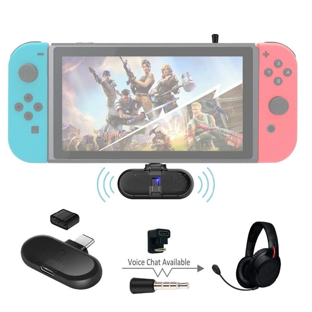 Bluetooth USB type C aptx faible latence Audio transmetteur musique voix chat adaptateur pour Nintendo Switch casque de jeu sans fil