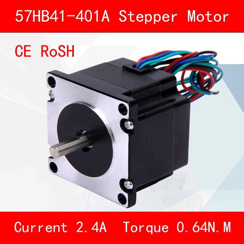 Jtengsys CE ROSH 57HB41-401A coppia del motore Passo-passo 0.64N.M corrente di Fase 2.4A per apparecchiature per lautomazione di 3d stampante cncJtengsys CE ROSH 57HB41-401A coppia del motore Passo-passo 0.64N.M corrente di Fase 2.4A per apparecchiature per lautomazione di 3d stampante cnc