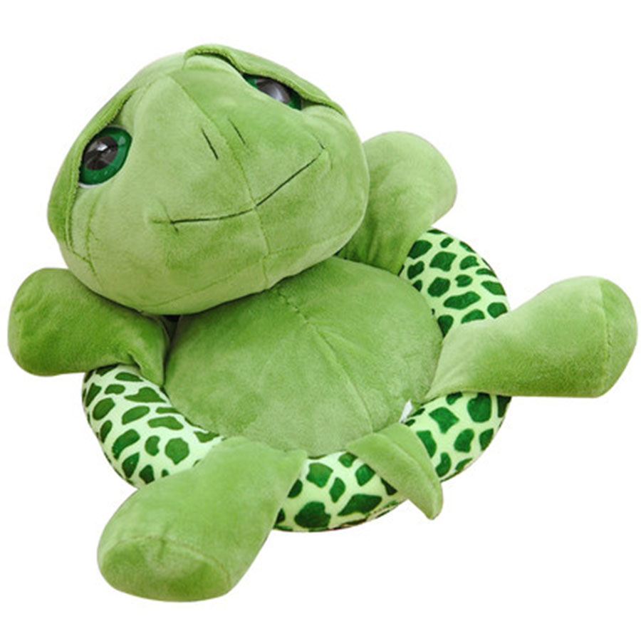 Cute Animal Soft Stuffed Plush Toys Lovely Green Big Eyes Turtle Plush Toy Turtle Doll For Kids As Birthday Gift Present 70C0025 science fiction film figma cartoon star wars roly poly anime toy bb 8 robot touching can light sound action